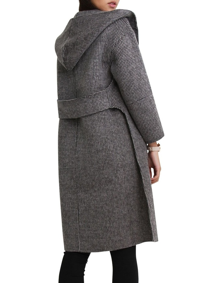 Walk This Way Blk/Wht Wool Blend Oversized Coat image 3