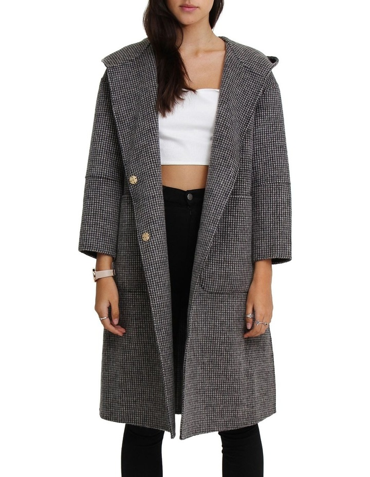 Walk This Way Blk/Wht Wool Blend Oversized Coat image 4