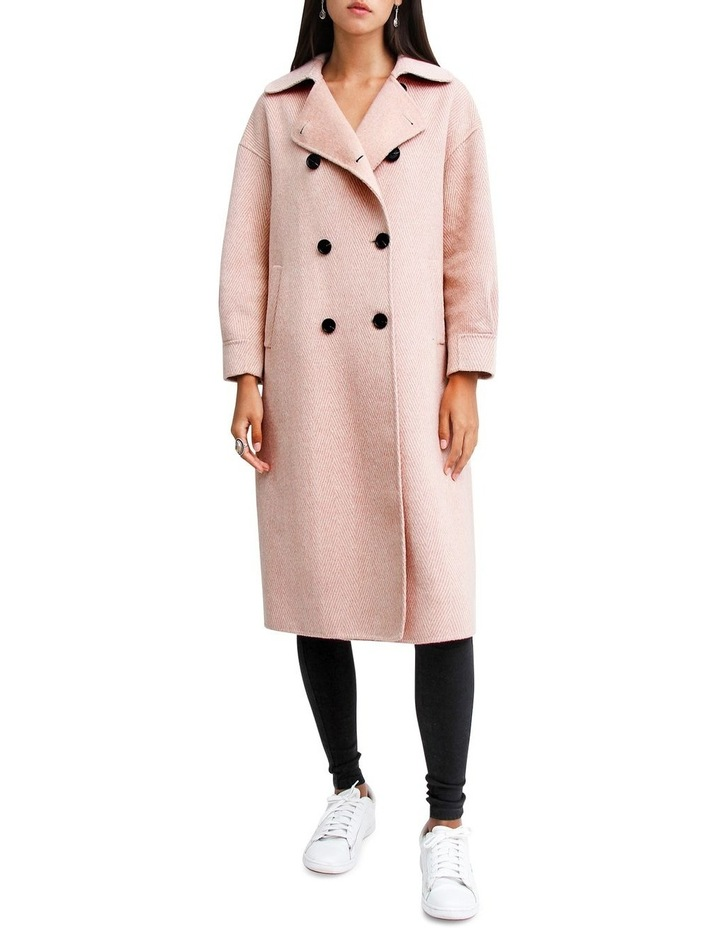 Dream Lover Dusty Rose Loose Fit Wool Blend Coat image 1