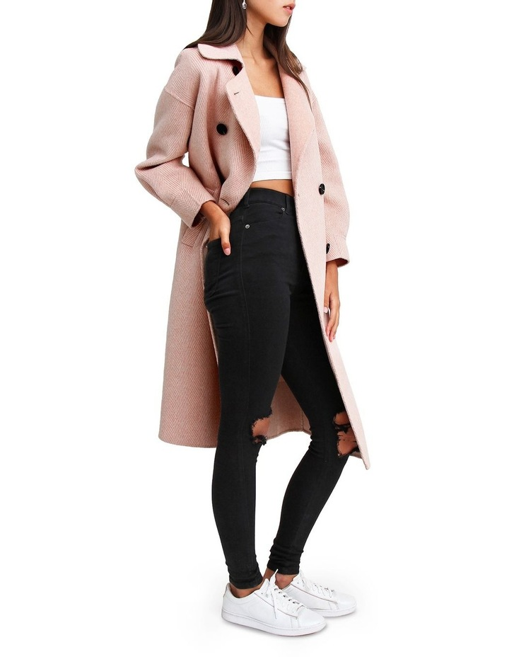 Dream Lover Dusty Rose Loose Fit Wool Blend Coat image 2