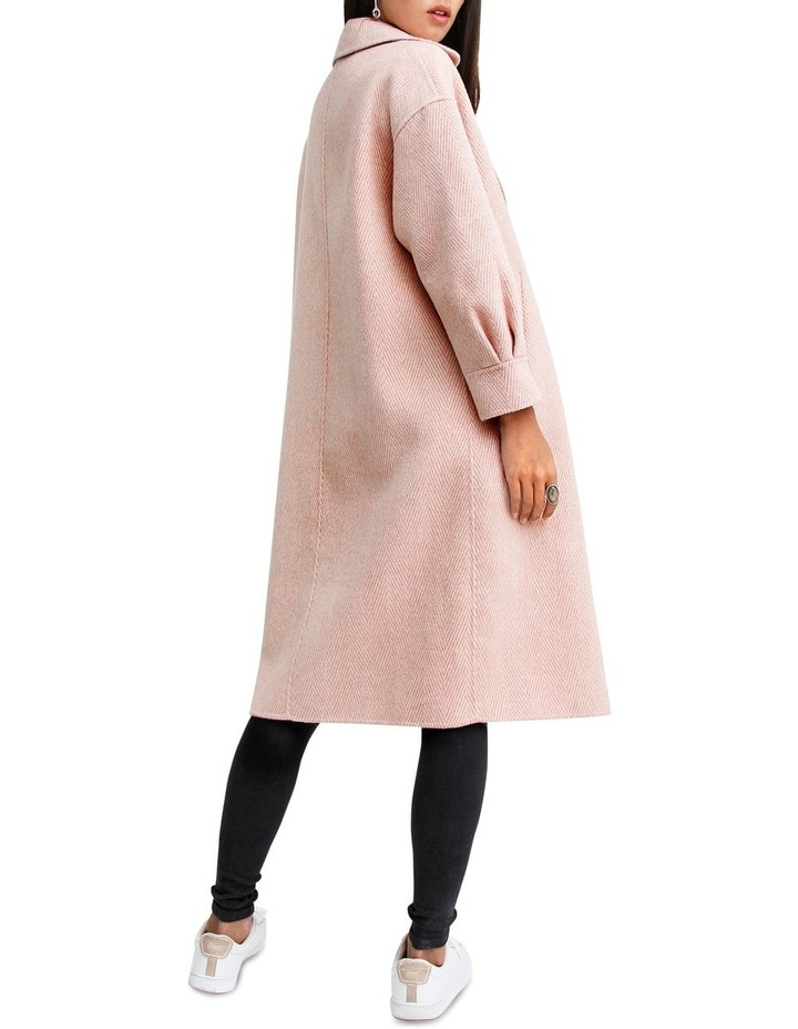 Dream Lover Dusty Rose Loose Fit Wool Blend Coat image 3