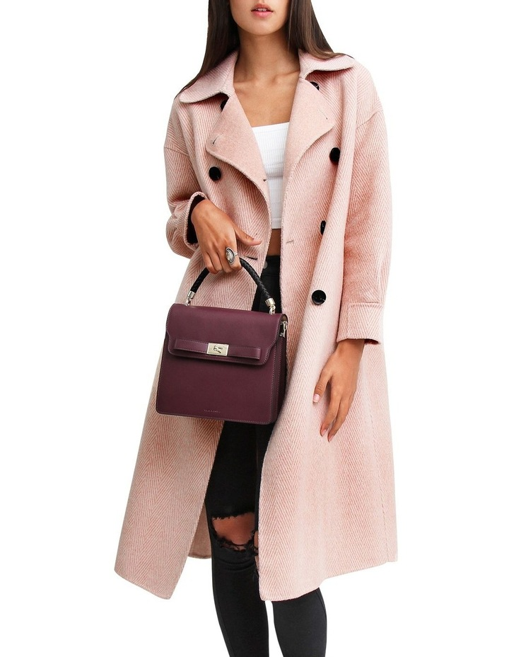 Dream Lover Dusty Rose Loose Fit Wool Blend Coat image 4