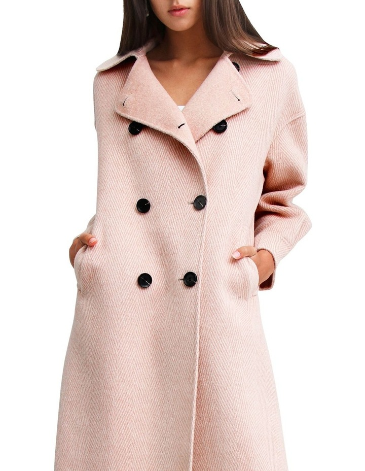 Dream Lover Dusty Rose Loose Fit Wool Blend Coat image 5