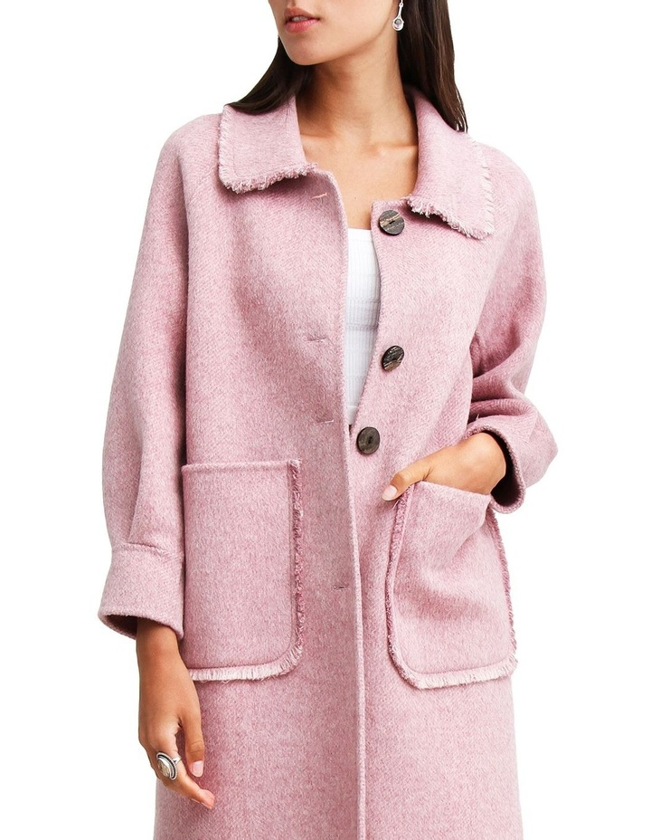 Lived In Love Lilac Wool Blend Coat image 4