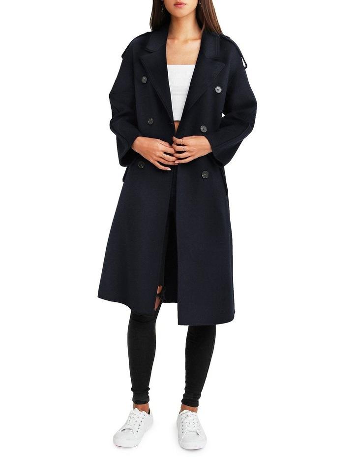 Aussie Sky Double-Breasted  Darkest Navy Wool Coat image 1