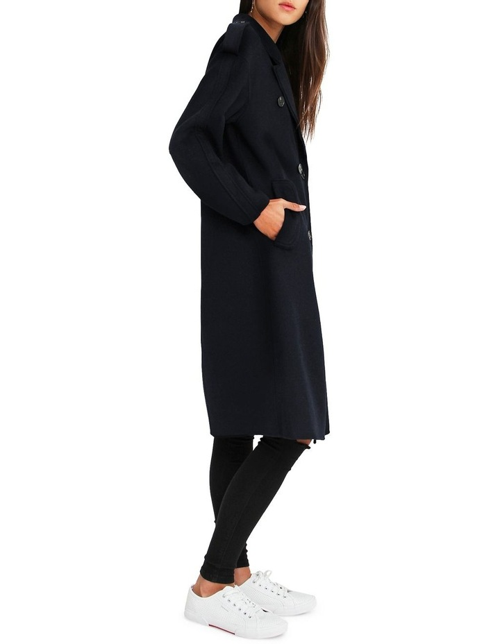 Aussie Sky Double-Breasted  Darkest Navy Wool Coat image 2