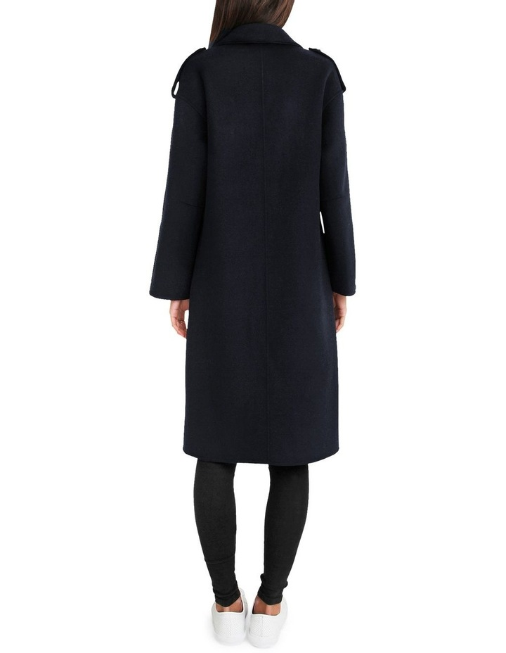 Aussie Sky Double-Breasted  Darkest Navy Wool Coat image 3