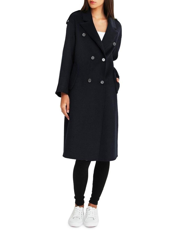 Aussie Sky Double-Breasted  Darkest Navy Wool Coat image 5