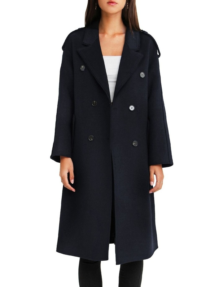 Aussie Sky Double-Breasted  Darkest Navy Wool Coat image 6