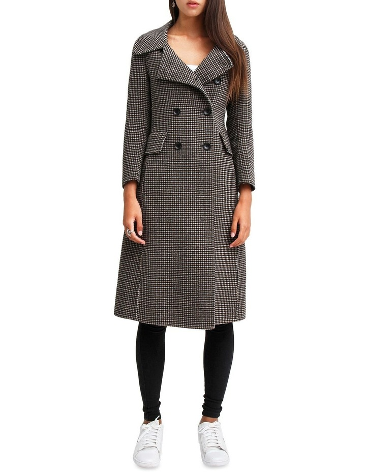 Save My Love Camel Check Wool Coat image 1