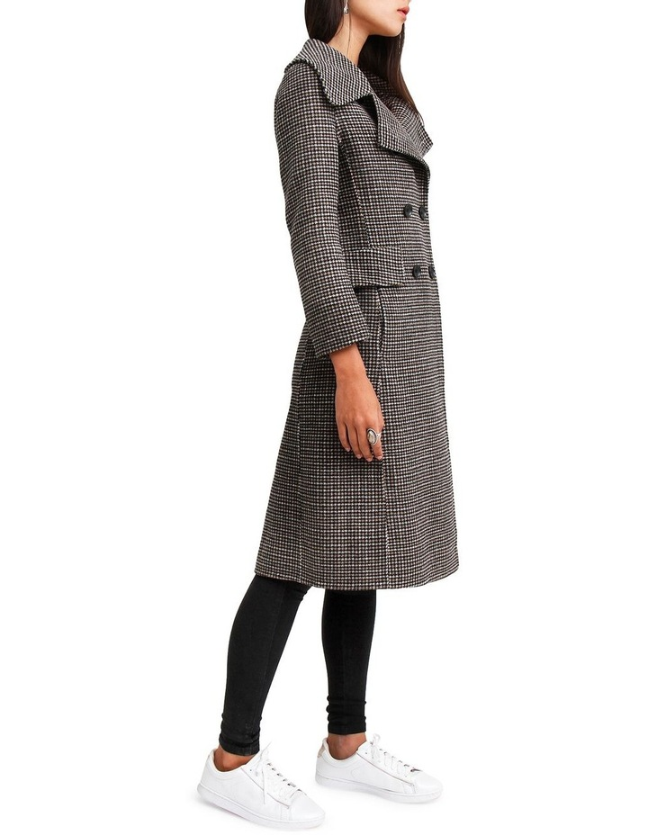 Save My Love Camel Check Wool Coat image 2