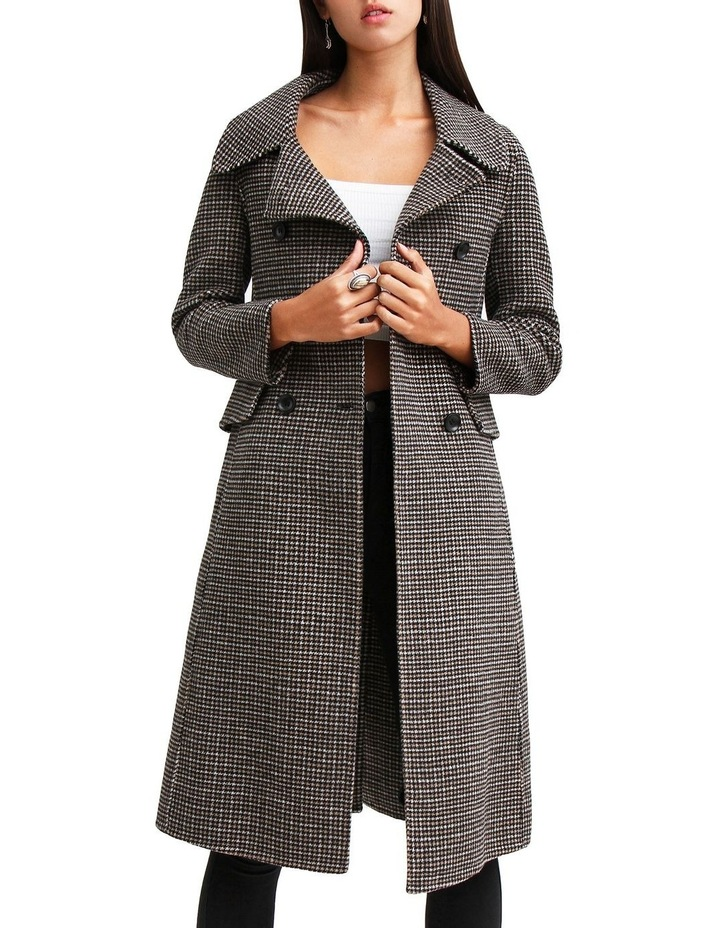 Save My Love Camel Check Wool Coat image 4