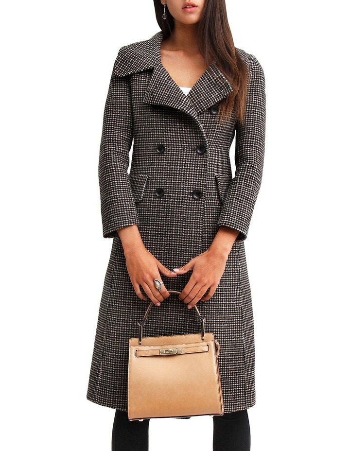 Save My Love Camel Check Wool Coat image 5