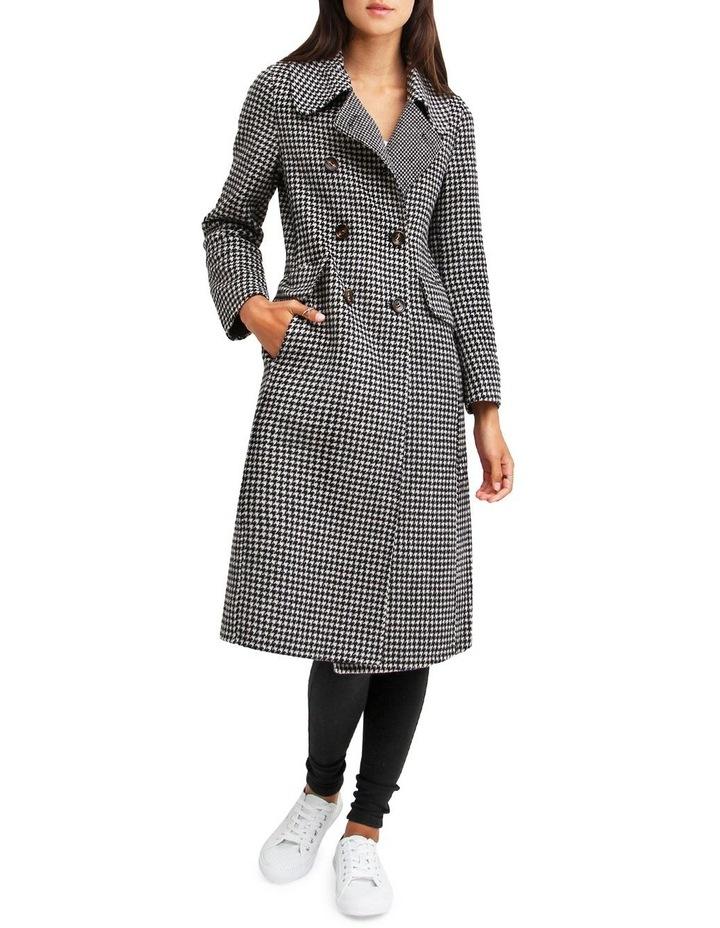 Save My Love Black & White Check Wool Coat image 1