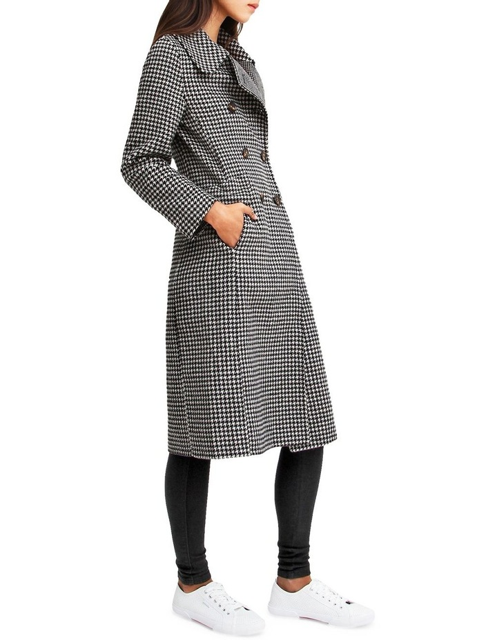 Save My Love Black & White Check Wool Coat image 2