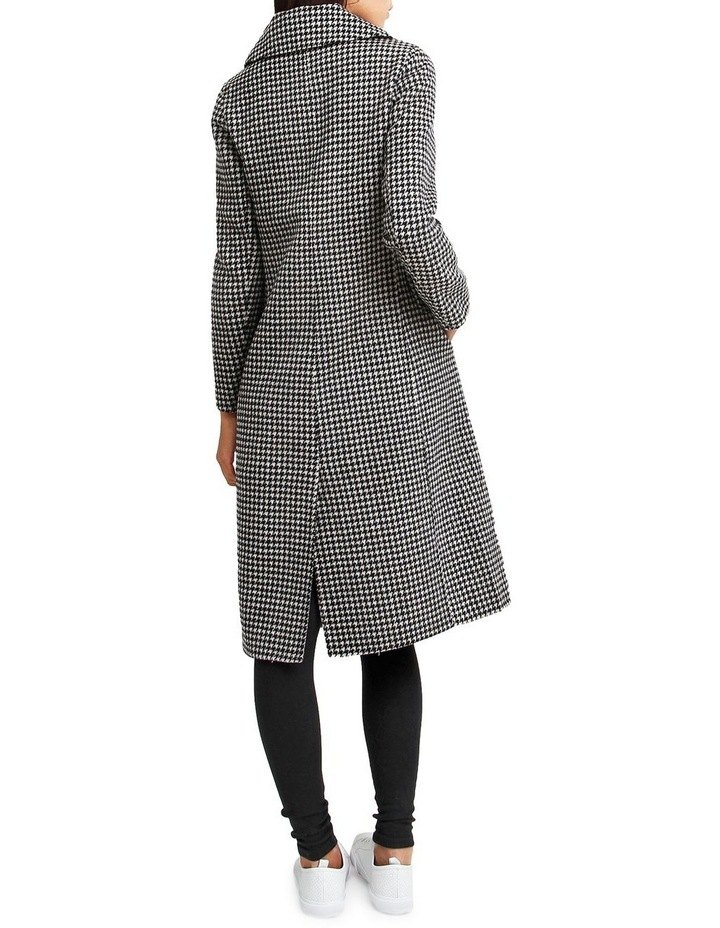 Save My Love Black & White Check Wool Coat image 3