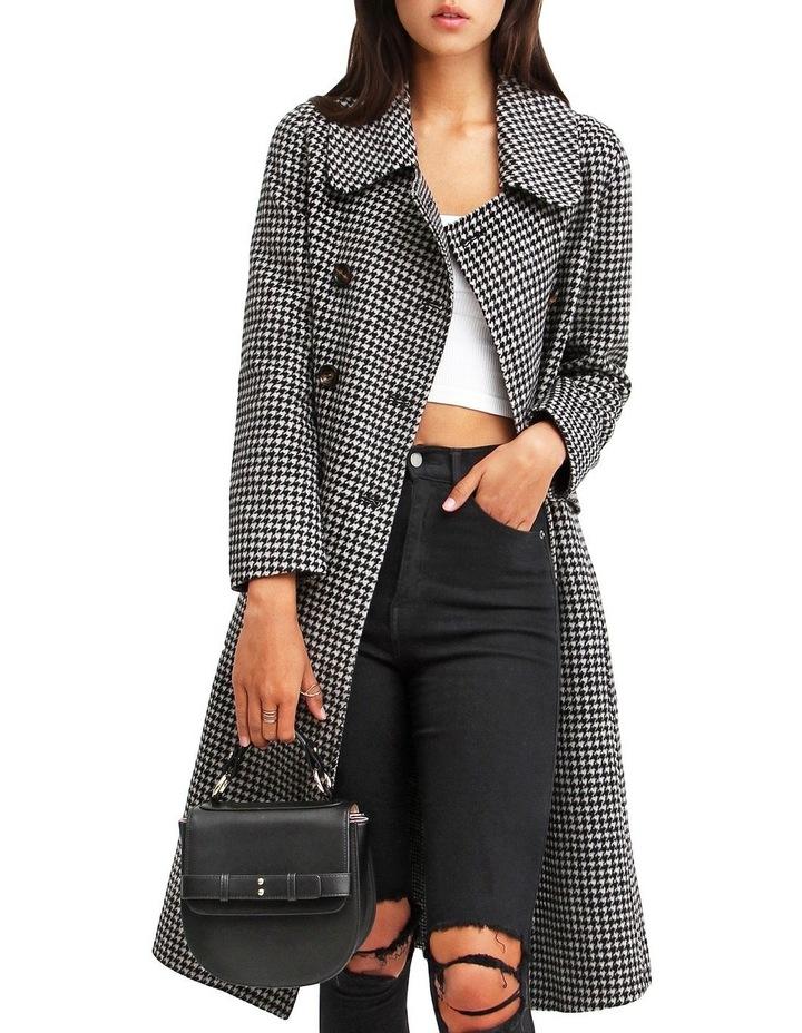 Save My Love Black & White Check Wool Coat image 4