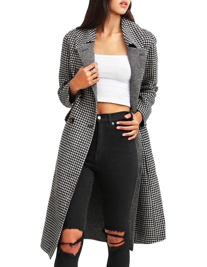 Save My Love Black & White Check Wool Coat image 5