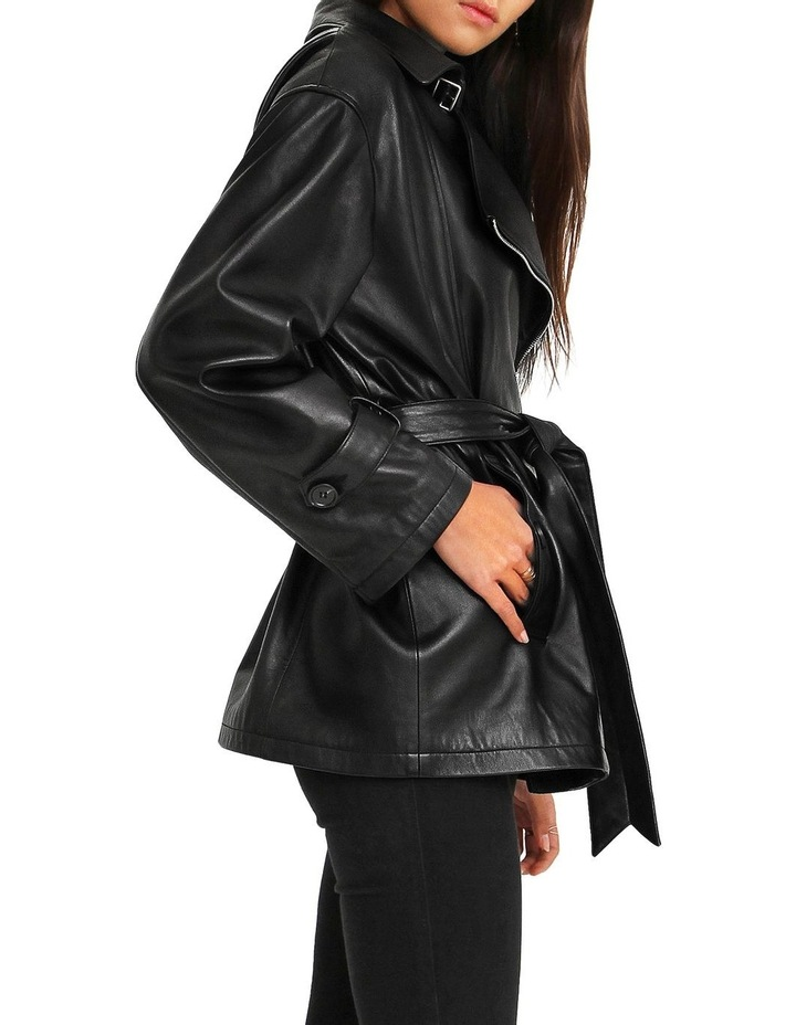 BFF Belted Black Leather Jacket image 2