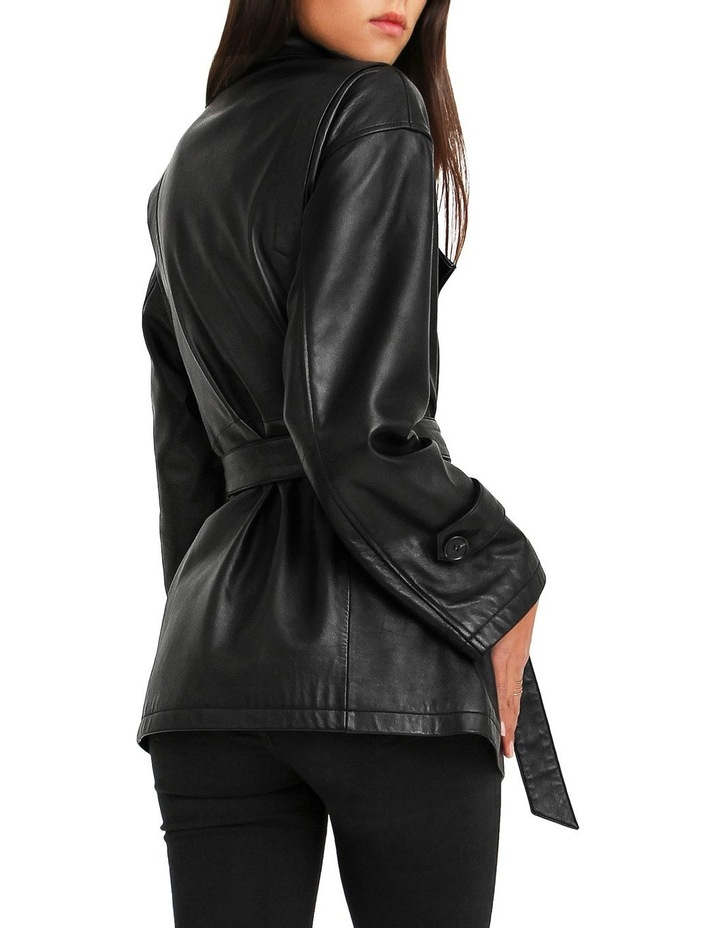 BFF Belted Black Leather Jacket image 3