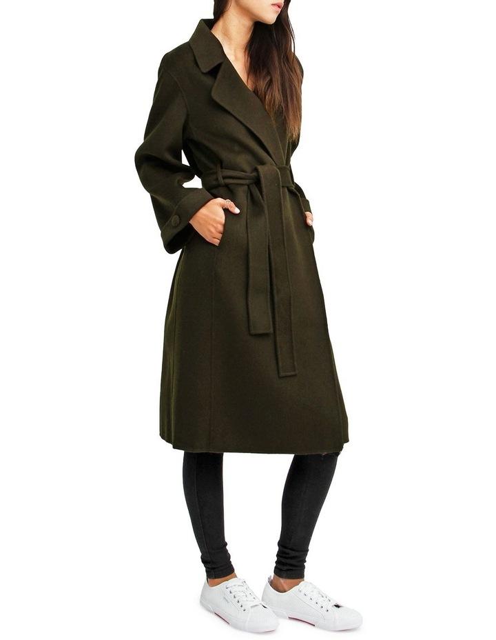 Stay Wild Military Oversized Wool Coat image 2