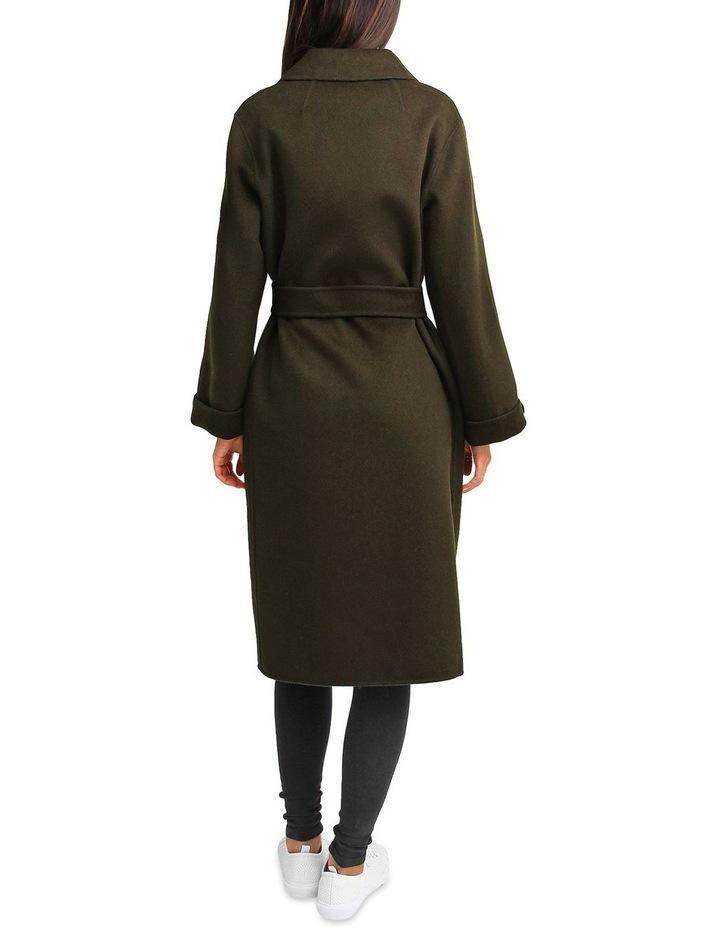 Stay Wild Military Oversized Wool Coat image 3