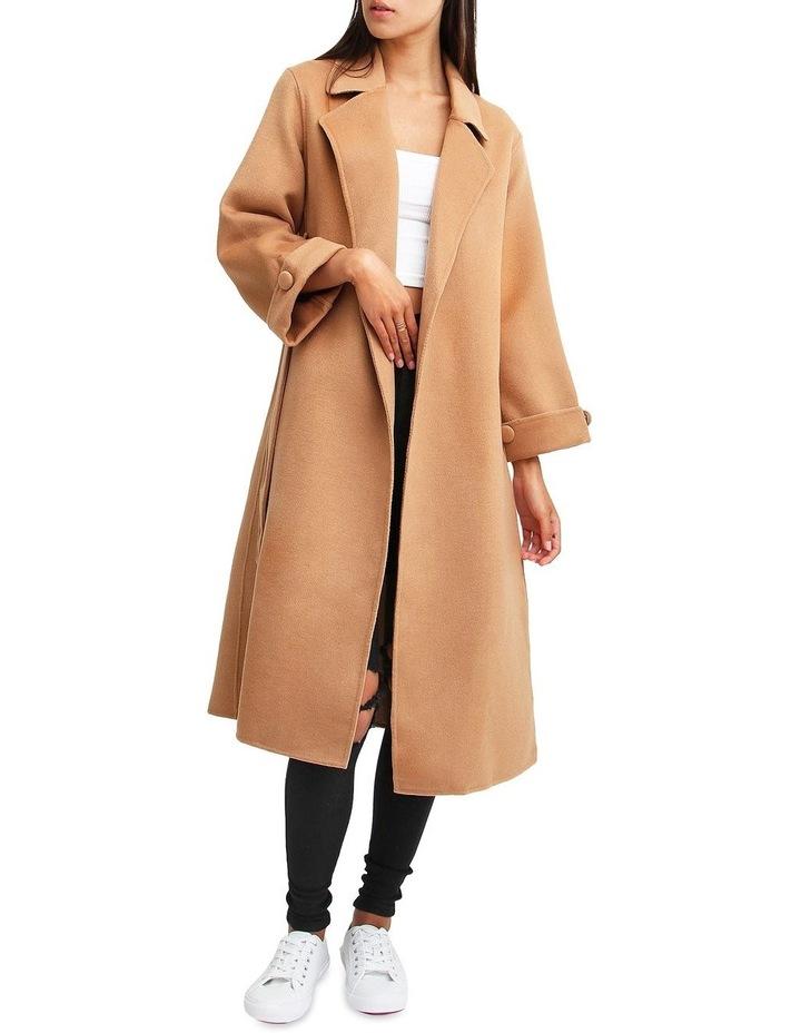 Stay Wild   Camel Oversized Wool Coat image 1