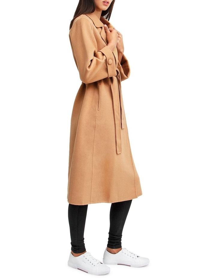 Stay Wild   Camel Oversized Wool Coat image 2