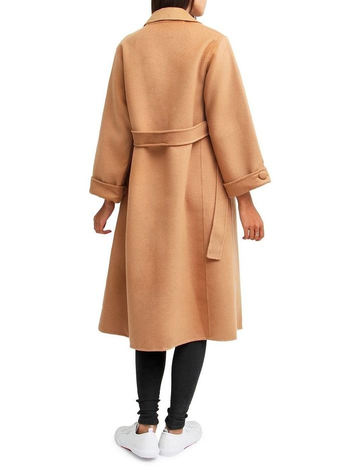 Stay Wild   Camel Oversized Wool Coat image 3