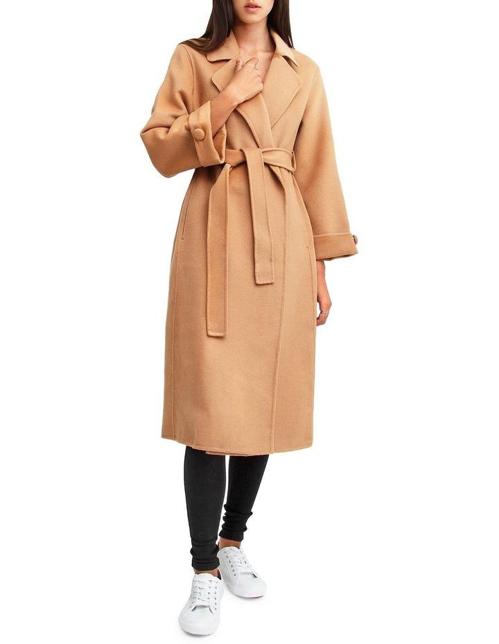 Stay Wild   Camel Oversized Wool Coat image 4