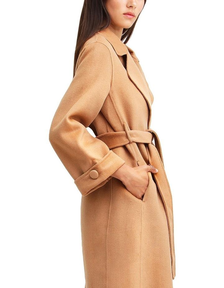 Stay Wild   Camel Oversized Wool Coat image 6