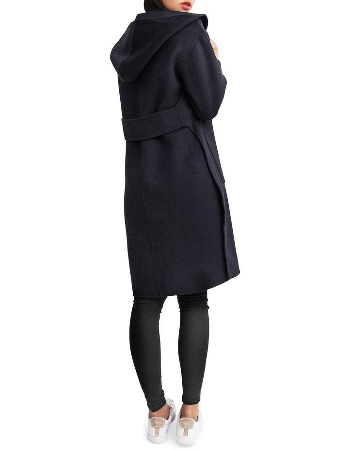 Walk This Way Darkest Navy Wool Blend Oversized Coat image 3