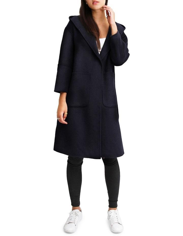 Walk This Way Darkest Navy Wool Blend Oversized Coat image 5