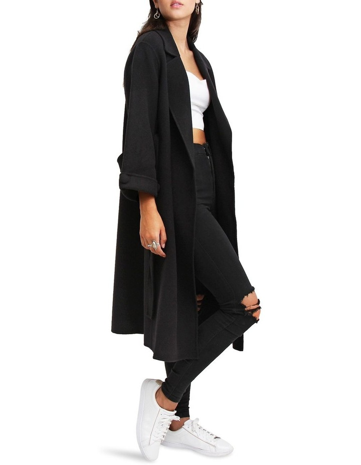 Stay Wild Black Oversized Wool Coat image 2