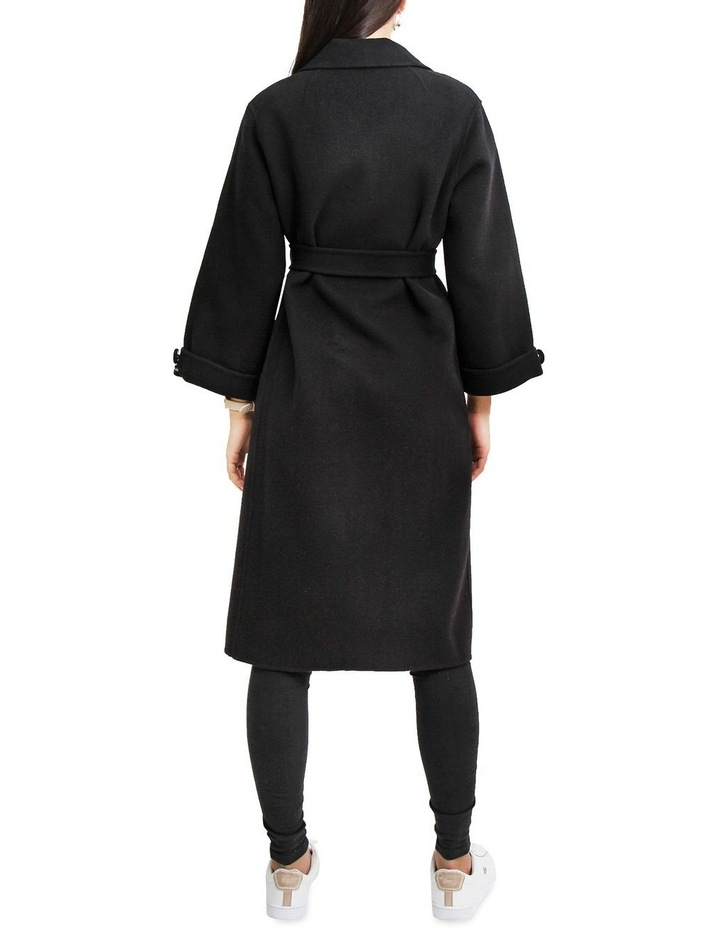 Stay Wild Black Oversized Wool Coat image 3