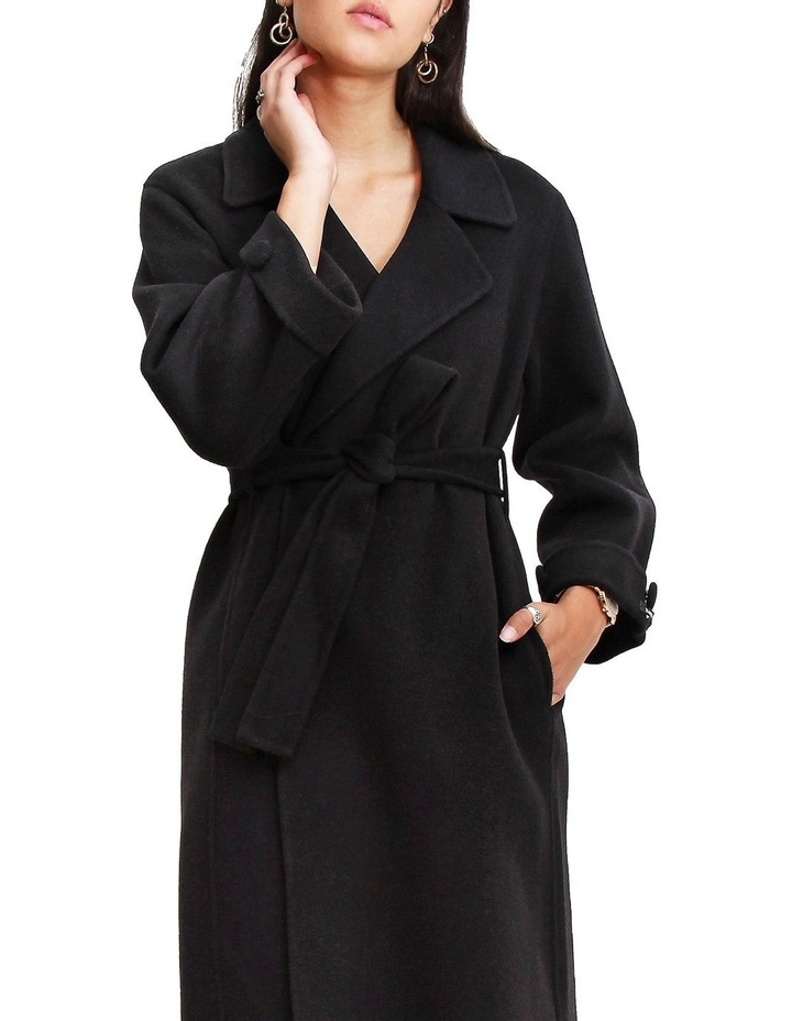 Stay Wild Black Oversized Wool Coat image 4