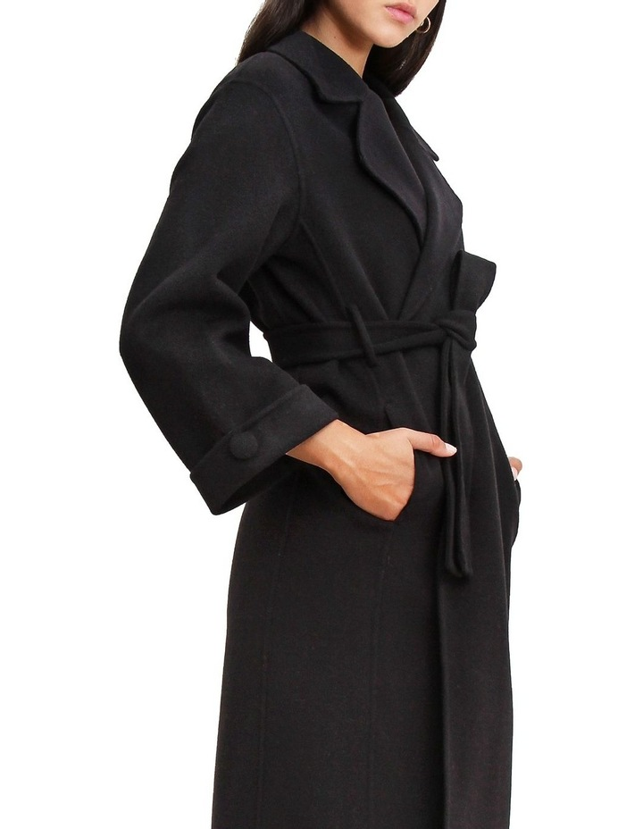 Stay Wild Black Oversized Wool Coat image 6