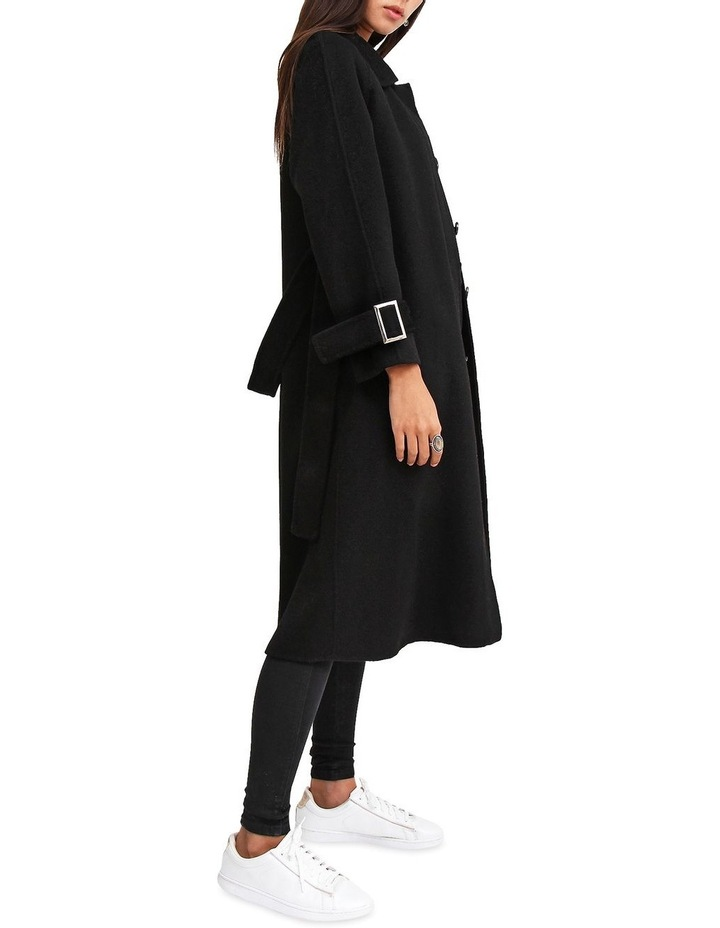 Shore To Shore Belted  Black Wool Coat image 2