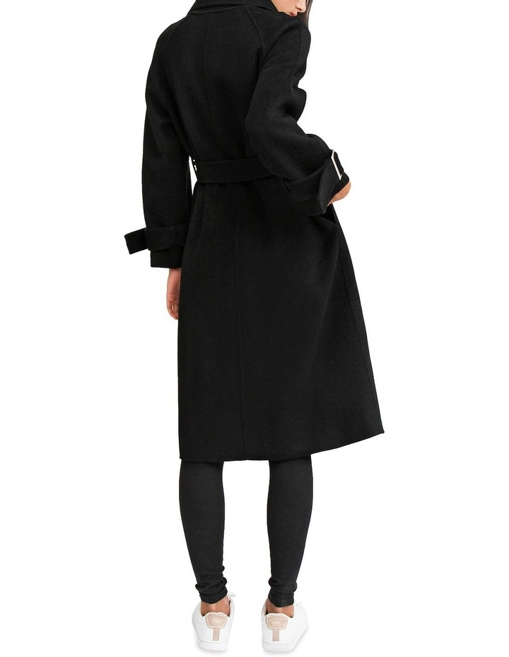 Shore To Shore Belted  Black Wool Coat image 3