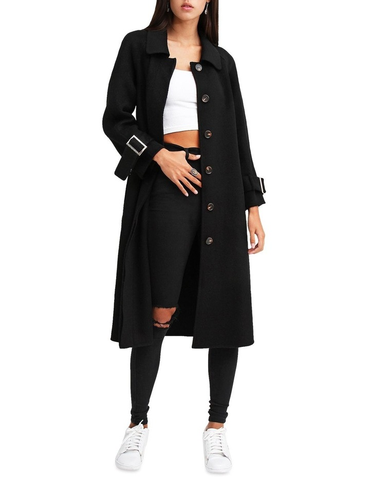 Shore To Shore Belted  Black Wool Coat image 4