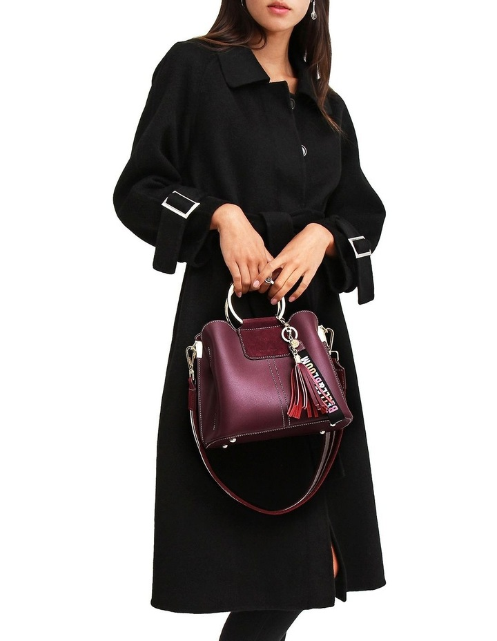 Shore To Shore Belted  Black Wool Coat image 5