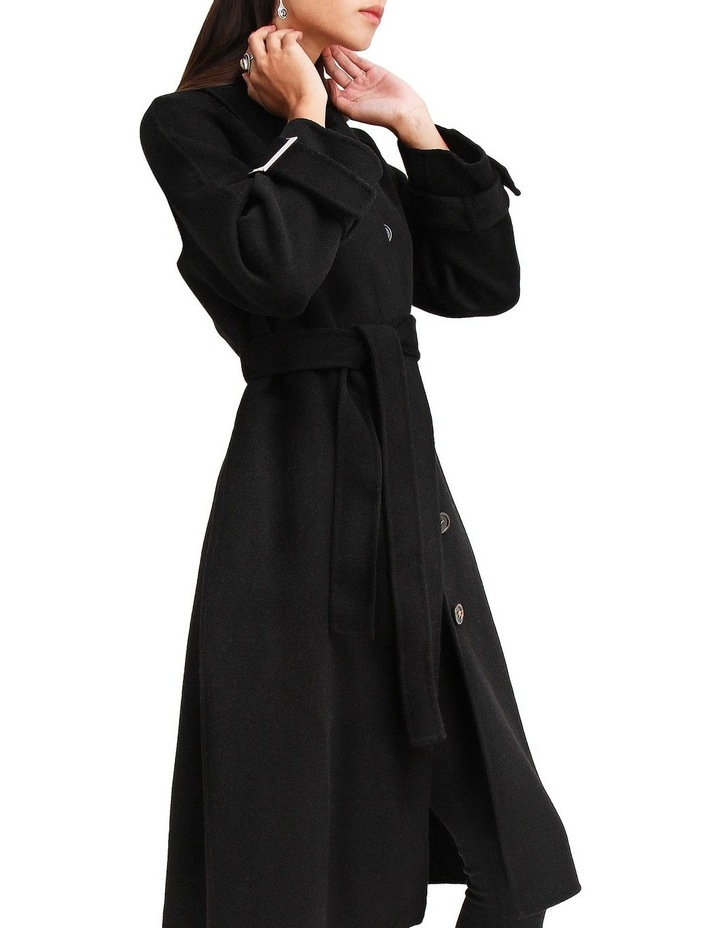 Shore To Shore Belted  Black Wool Coat image 6