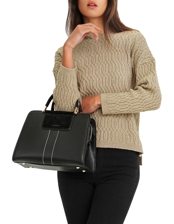 Oxford Camel Cable Knit Hooded Jumper image 4