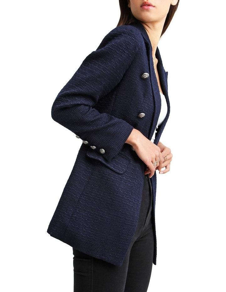 Princess Polly Navy Tweed Blazer image 2