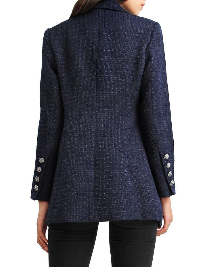 Princess Polly Navy Tweed Blazer image 3