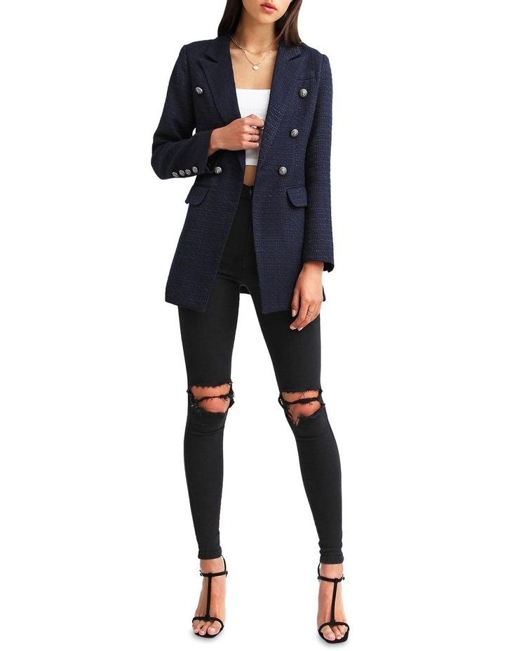 Princess Polly Navy Tweed Blazer image 4