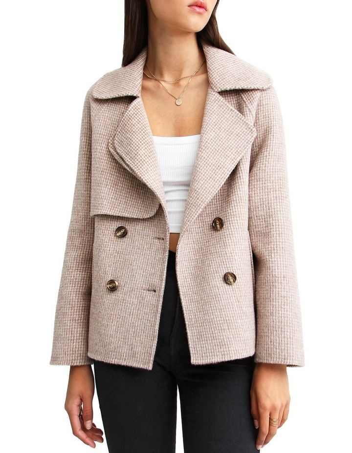 I'm Yours  Beige Wool Blend Peacoat image 1