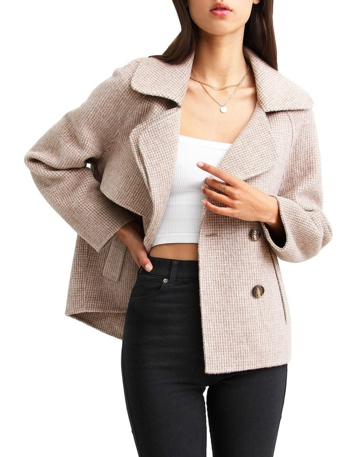 I'm Yours  Beige Wool Blend Peacoat image 4
