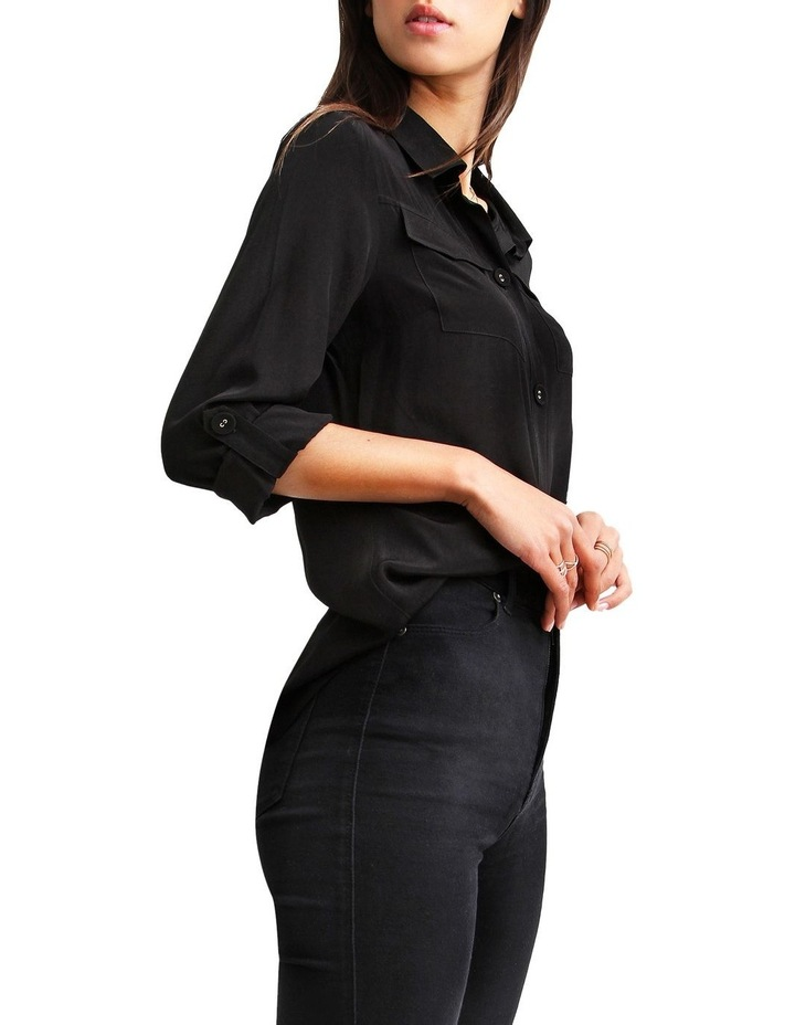 Eclipse Black Rolled Sleeve Blouse image 2