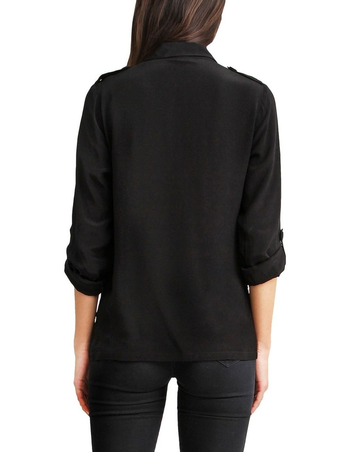 Eclipse Black Rolled Sleeve Blouse image 3